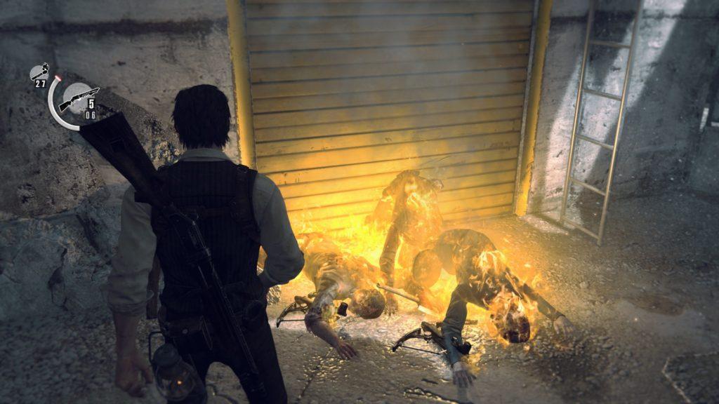 サイコブレイク マッチで焼き土下座画像