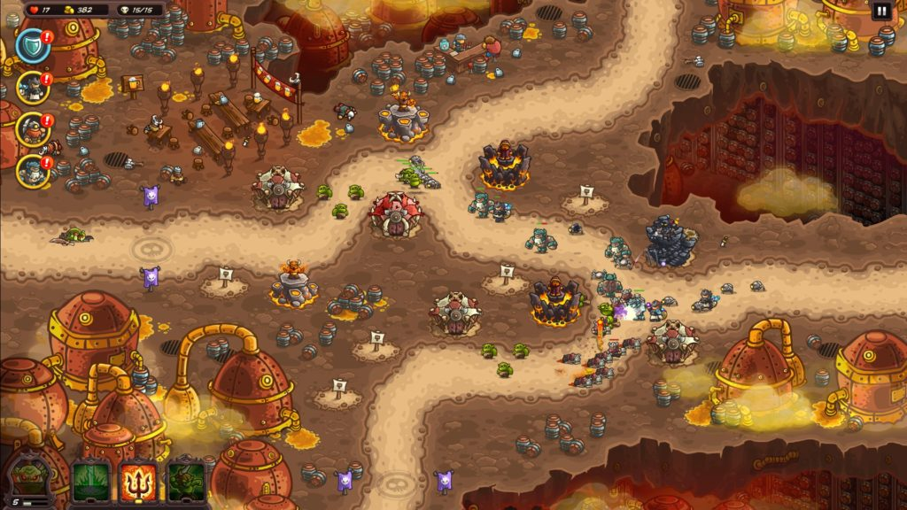kingdom Rush Vegeance 戦闘画像